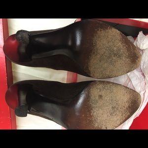 Charles Jourdan Shoes - Charles Jourdan vintage brown suede wood heel